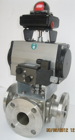 3-Way-Pneumatic-Actuator-Operated-Ball-Valve-Manufacturer-Manufacturers