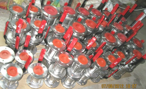 Three Piece Design Flanged End Ball Valve