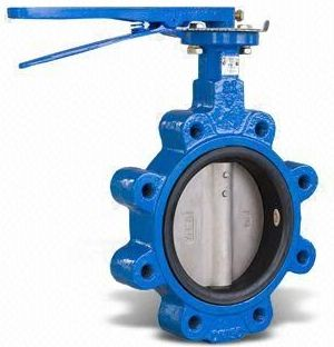 Lug Type Body Center Disc Rubberlined Butterfly Valve Manufacturer Exporter in India