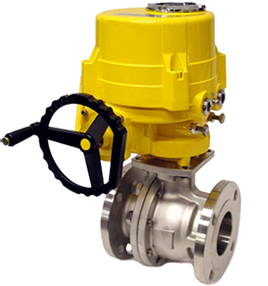 Electrical Actuator Operated Ball Valve Manufacturers Exporter India