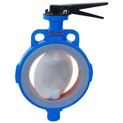 PTFE FEP PFA Lined Butterfly Valve Manufacturers Exporters in India