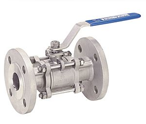 Ball Valve Three Piece Design Full Bore Floating Ball Manufacturers Exporters in India