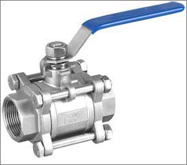 3 Piece Design Full Bore Ball Valve Manufacturer Exporter Supplier Stockiest India