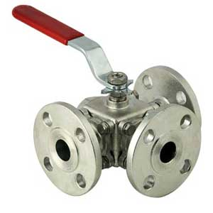 SS304-316-3-Way-Flanged-End-Ball-Valve-Manufacturer-Exporters-India